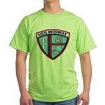 USS MIDWAY Green T-Shirt