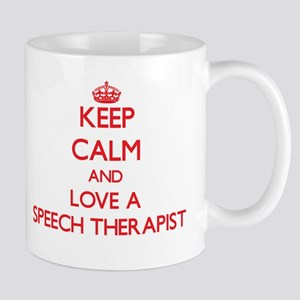 Keep Calm and Love a Speech Therapist Mugs