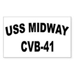 USS MIDWAY Sticker (Rectangle)