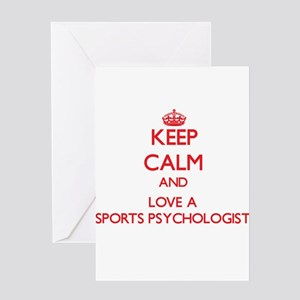 Keep Calm and Love a Sports Psychologist Greeting