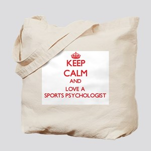 Keep Calm and Love a Sports Psychologist Tote Bag