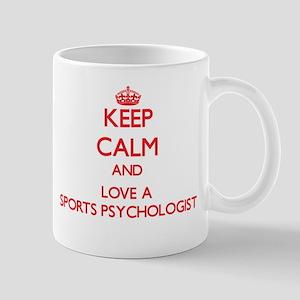 Keep Calm and Love a Sports Psychologist Mugs