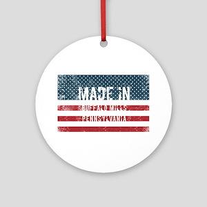 Made in Buffalo Mills, Pennsylvania Round Ornament