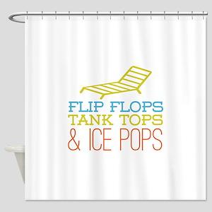 Flip Flops Ice Pops Shower Curtain