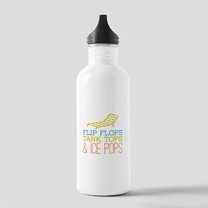 Flip Flops Ice Pops Stainless Water Bottle 1.0L
