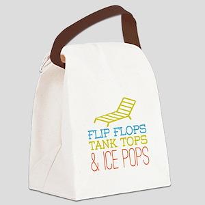 Flip Flops Ice Pops Canvas Lunch Bag