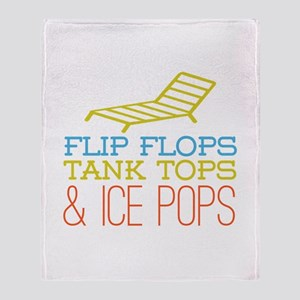 Flip Flops Ice Pops Throw Blanket