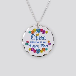 Opera Happy Place Necklace Circle Charm