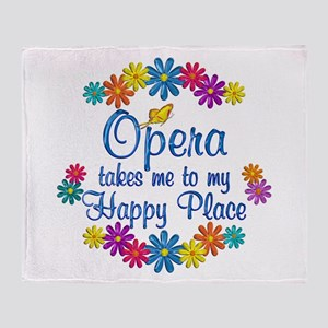 Opera Happy Place Throw Blanket