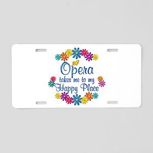 Opera Happy Place Aluminum License Plate