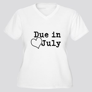 Due In July Plus Size T-Shirt