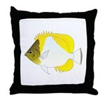 Pyramid Butterflyfish Throw Pillow