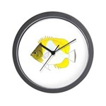 Pyramid Butterflyfish Wall Clock