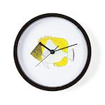 Pyramid Butterflyfish Wall Clock
