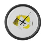 Pyramid Butterflyfish Large Wall Clock
