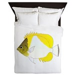 Pyramid Butterflyfish Queen Duvet