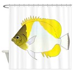 Pyramid Butterflyfish Shower Curtain