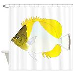 Pyramid Butterflyfish Shower Curtain