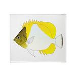 Pyramid Butterflyfish Throw Blanket