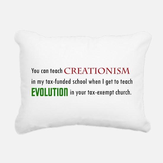 Creationism Rectangular Canvas Pillow