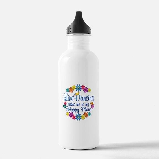 Line Dancing Happy Pla Water Bottle