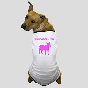 Custom Pink Bull Terrier Silhouette Dog T-Shirt