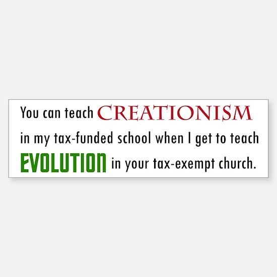 Creationism Bumper Bumper Bumper Sticker