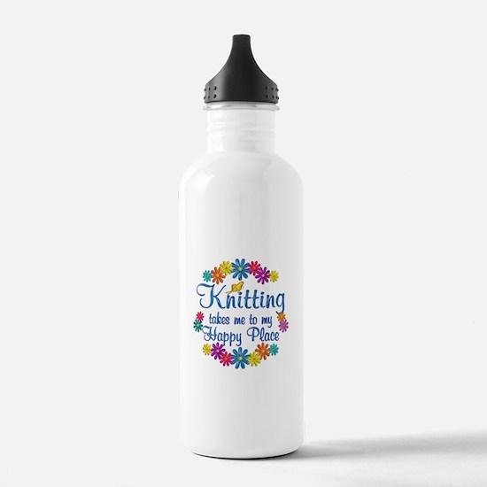Knitting Happy Place Water Bottle