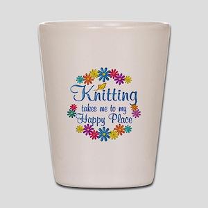 Knitting Happy Place Shot Glass