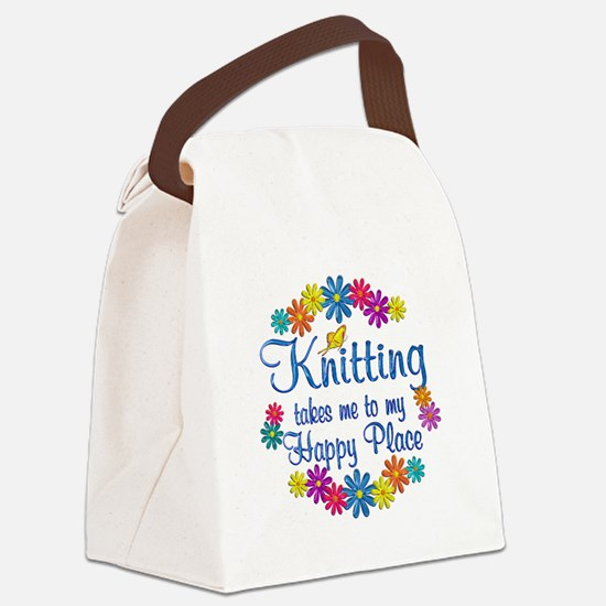 Knitting Happy Place Canvas Lunch Bag