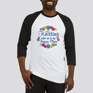 Knitting Happy Place Baseball Jersey
