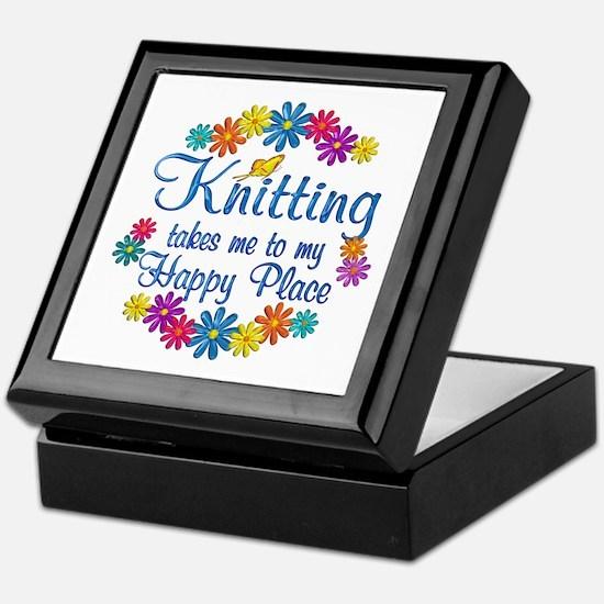 Knitting Happy Place Keepsake Box