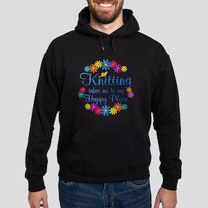 Knitting Happy Place Hoodie (dark)
