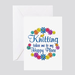 Knitting Happy Place Greeting Card