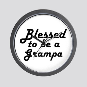 Blessed Grampa Wall Clock