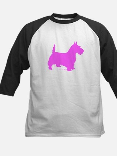Pink Scottie Silhouette Baseball Jersey
