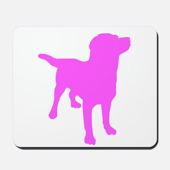 Pink Labrador Retriever Silhouette Mousepad