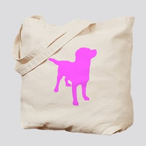 Pink Labrador Retriever Silhouette Tote Bag