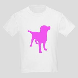 Pink Labrador Retriever Silhouette T-Shirt