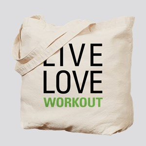Live Love Workout Tote Bag