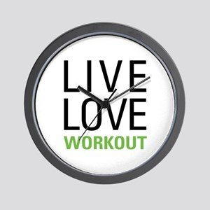 Live Love Workout Wall Clock