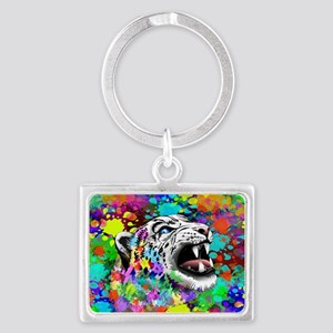 Leopard Psychedelic Paint Splats Keychains