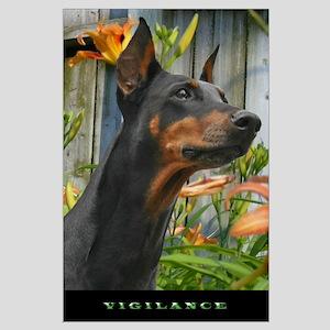 """Vigilance"" Doberman Headstudy Poster"