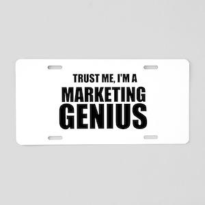 Trust Me, I'm A Marketing Genius Aluminum License