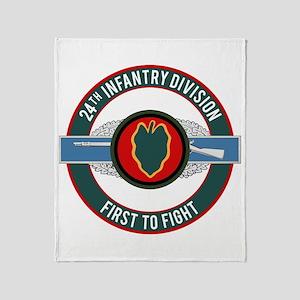 24th Infantry CIB motto Throw Blanket