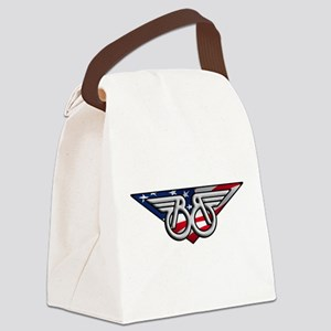 Winged B with American Flag Canvas Lunch Bag