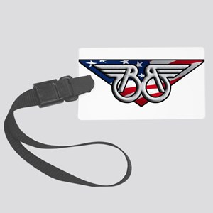 Winged B with American Flag Luggage Tag