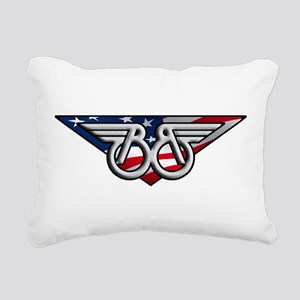 Winged B with American Flag Rectangular Canvas Pil