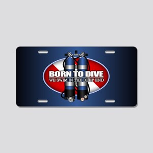 Born To Dive (ST) Aluminum License Plate