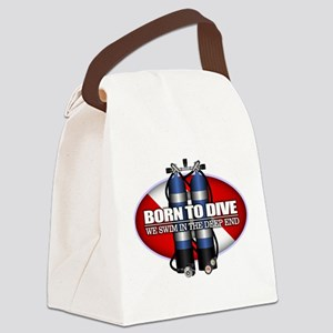Born To Dive (ST) Canvas Lunch Bag